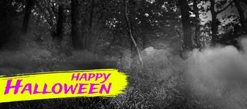 Составное изображение цифрового изображения счастливого текста хеллоуина Стоковые Изображения