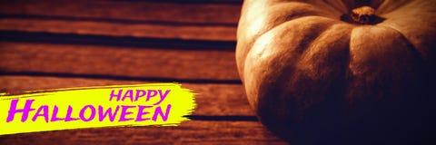 Составное изображение цифрового изображения счастливого текста хеллоуина Стоковая Фотография RF