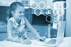 Составное изображение цифрового изображения химического строения Стоковые Фотографии RF
