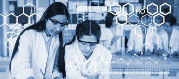 Составное изображение цифрового изображения химического строения Стоковое фото RF