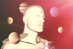 Составное изображение цифрового составного изображения планеты Урана Стоковое Изображение RF