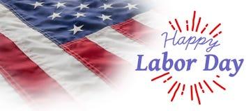 Составное изображение цифрового составного изображения счастливого Дня Трудаа и бог благословляют текст Америки иллюстрация штока