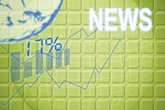 Составное изображение цифров произведенного изображения 17 и знака процента Стоковые Изображения RF