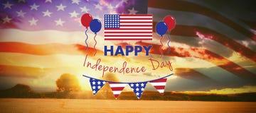 Составное изображение цифров составного изображения счастливого текста Дня независимости стоковое фото