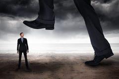 Составное изображение шагать бизнесмена Стоковые Фотографии RF