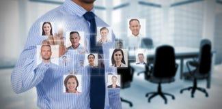 Составное изображение людей связи между Стоковая Фотография RF