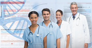 составное изображение 3D портрета уверенно медицинской бригады стоковые изображения rf