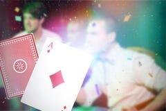 Составное изображение 3d туза карточки диамантов Стоковое Изображение RF