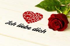 Составное изображение dich liebe ich Стоковое Изображение