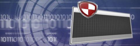 Составное изображение digial логотипа против серой предпосылки Стоковое Изображение RF