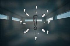 Составное изображение doodle восклицательного знака Стоковое Изображение RF