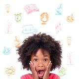 Составное изображение doodles вопросов школы Стоковая Фотография