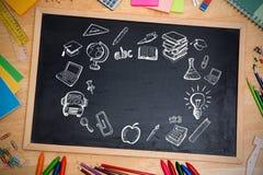 Составное изображение doodles образования Стоковые Изображения