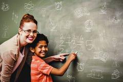 Составное изображение doodles школы Стоковые Фото