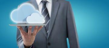 Составное изображение midsection бизнесмена с цифровой таблеткой 3d Стоковые Изображения RF