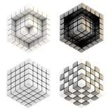 составы cube 4 изолированный комплект Стоковое Изображение