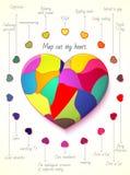 Составьте карту вне мое сердце Стоковая Фотография