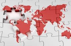 составьте карту мир головоломки Стоковое Изображение