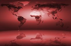 составьте карту мир стоковое изображение