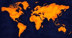 составьте карту мир Стоковые Изображения