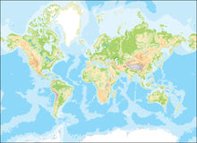 составьте карту мир Стоковое фото RF