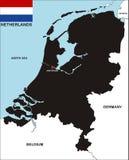составьте карту Нидерланды Стоковое Изображение