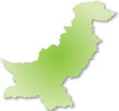 составьте карту Пакистан Стоковые Изображения RF