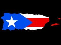 составьте карту Пуерто Рико иллюстрация штока