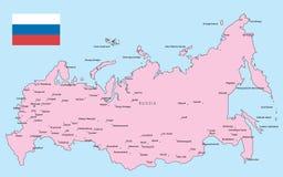 составьте карту Россия Стоковые Фото
