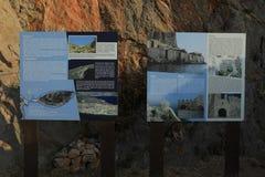 Составьте карту сказание средневекового городка замка Monemvasia стоковое изображение