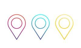 Составьте карту указатели, значки положения, линейные штыри иллюстрация вектора