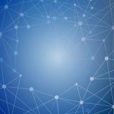 Составьте молекулу и дна связи, атом, нейроны Концепция науки для вашего дизайна Соединенные линии с точками Стоковые Фото