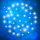 Составьте молекулу и дна связи, атом, нейроны Концепция науки для вашего дизайна Соединенные линии с точками Стоковая Фотография