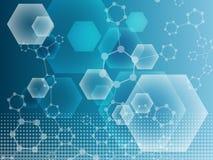 Составьте молекулу и дна связи, атом, нейроны Концепция науки для вашего дизайна Соединенные линии с точками Стоковая Фотография RF
