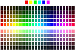 составьте схему цвету Стоковое Изображение