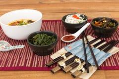 Состав азиатской еды Стоковая Фотография RF