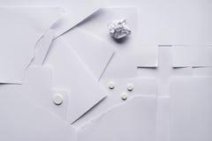 Состав белого листа бумаги на медицинских вопросах стоковые фото