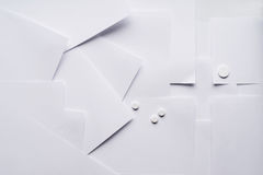 Состав белого листа бумаги на медицинских вопросах стоковое изображение rf