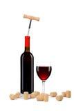 Состав бутылки и стекла вина. Стоковое Фото