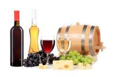 Состав бутылки и стекла вина. Стоковые Изображения