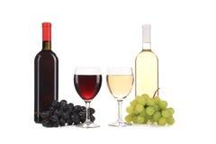 Состав бутылки и стекла вина. Стоковые Изображения RF
