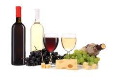 Состав бутылки и стекла вина. Стоковая Фотография RF