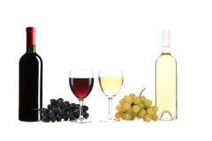 Состав бутылки и стекла вина. Стоковые Фотографии RF
