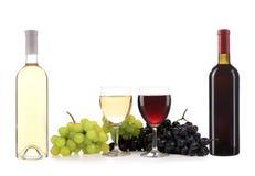 Состав бутылки и стекла вина. Стоковое фото RF