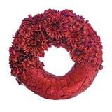 Состав высушенных цветков и ягод в форме isol круга Стоковое Фото