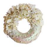 Состав высушенных цветков и ягод в форме isol круга Стоковые Фотографии RF