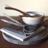 Состав деревянного столового прибора Стоковое Изображение