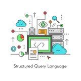 Составленный язык запроса базы данных SQL Стоковые Изображения