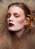 Состав женщины красоты хеллоуина Стоковое Изображение