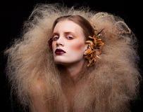 Состав женщины красоты хеллоуина Стоковое Изображение RF